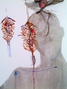katarra peterson mixed media drawing